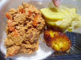 Makanan lezat ini berasal dari Afrika - domba, kentang dan pisang goreng