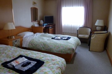 <p>The twin rooms were comfortable and spacious.</p>