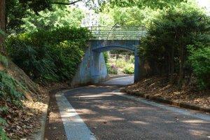 A small chicane under the bridge