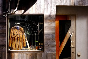 <p>A western-influenced window display</p>