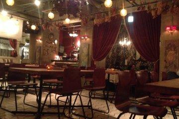 <p>The restaurant floor</p>