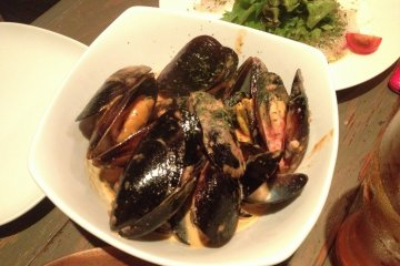 <p>Delicious mussels</p>