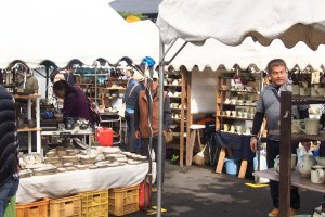 Hundreds of stalls can be found throughout the town offering all sorts of pottery