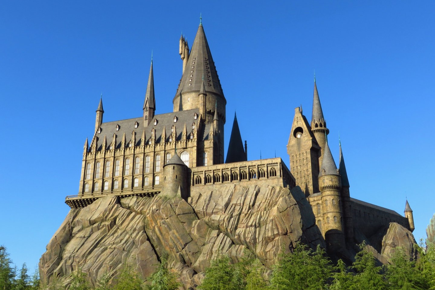 One of the main attractions: a reconstruction of Hogwarts