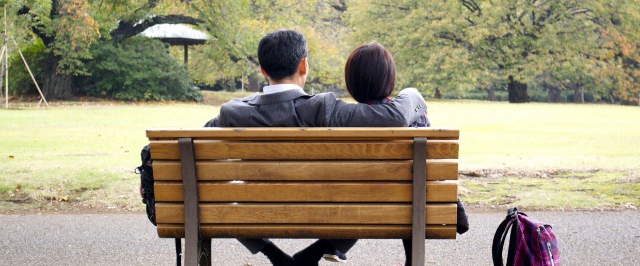 Chợp được khoảnh khắc của một cặp đôi ở Shinjuku Gyoen