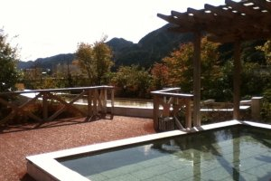 Saatnya melepas lelah, pemandangan salah satu resort di Kinugawa onsen