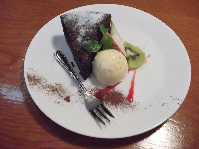 <p>Кусочек шоколадного торта</p>