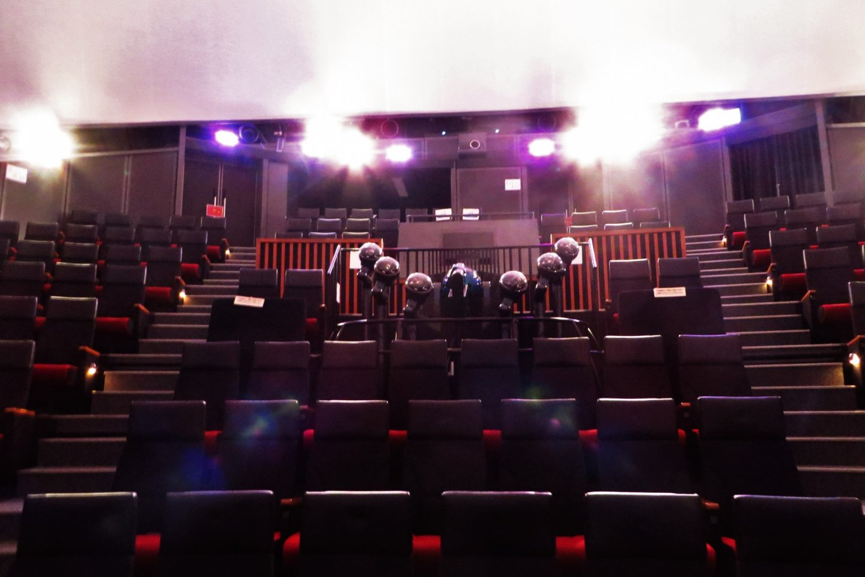 Inside the Dome Theatre(where the planetarium is)