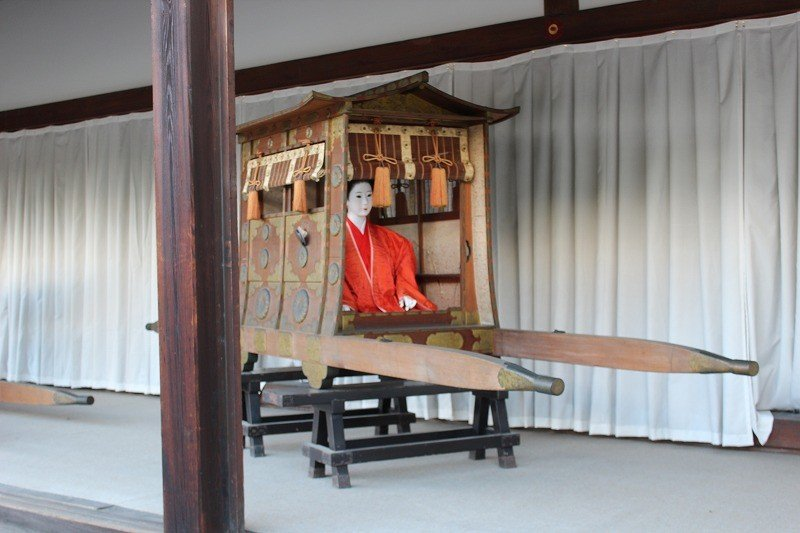 Palanquin. Called 'itakoshi' in Japanese
