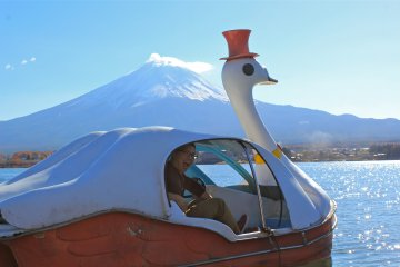 <p>We envisioned ourselves on the television show, Amazing Race, as we pedaled fast towards Mt. Fuji!&nbsp;</p>
