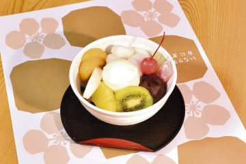 <p>Umeya offers light meals and Japanese sweets</p>