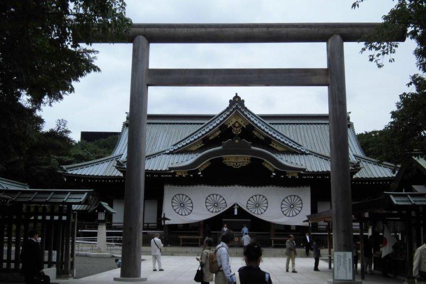 Impressive torii (shrine gate)