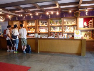 The tasting room. There is usually an English-speaking staff member here to assist non-Japanese visitors.