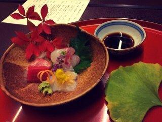De délicieux sashimi, les plus frais que j'ai mangé jusqu'alors !