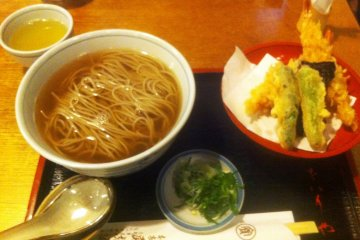 Home made broth makes this soba noodle great