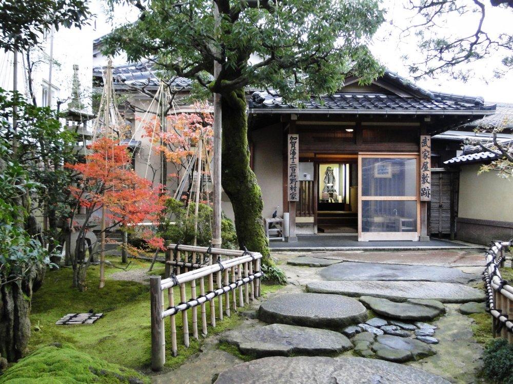 The entrance path to the Nomura Samurai House