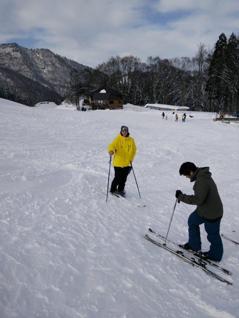 <p>On the bunny slope at Mitsumata</p>