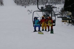 Cartoon characters snowboard too