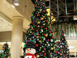 The six-meter-high giant Christmas Tree standing at the gorgeous Galleria of Diamor