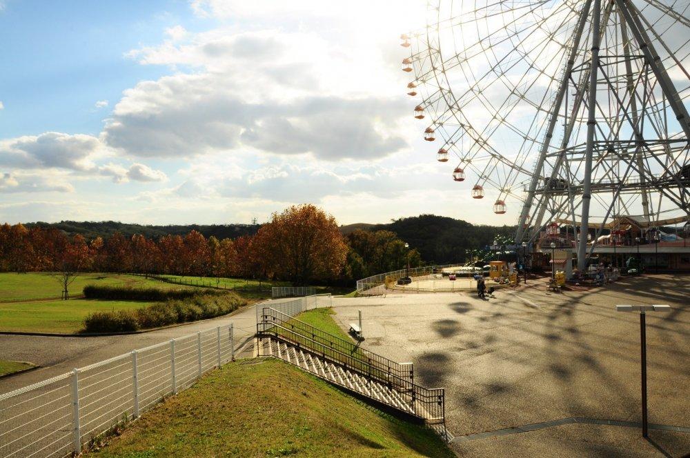 Suatu sore yang tenang di Moricoro Park