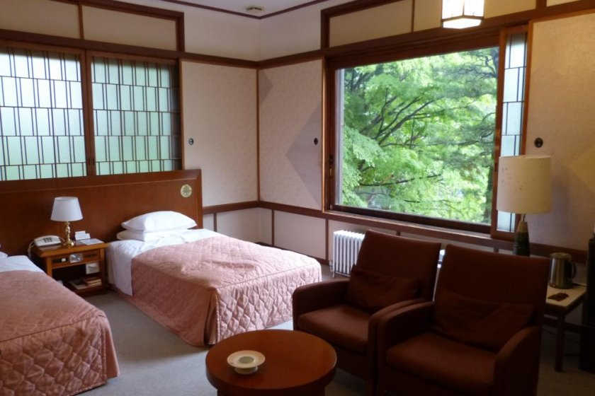 The rooms are spacious and comfortable.