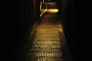 <p>In Kyoto, there are many narrow alleys like this</p>