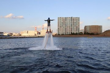 Flyboarding at Chiba Port Tower