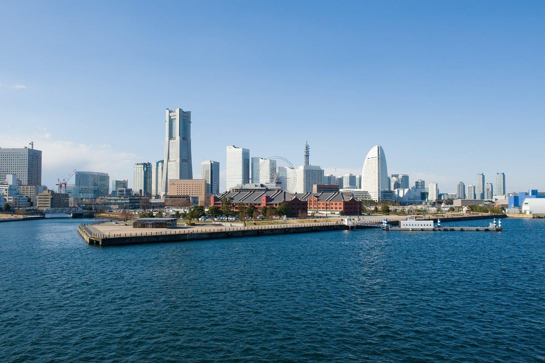 Pelabuhan dan cakrawala Yokohama