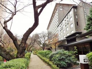 Pathway leading past the steak house, Katsura