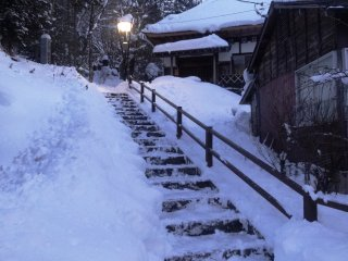 Snow covers the region from early December to early March
