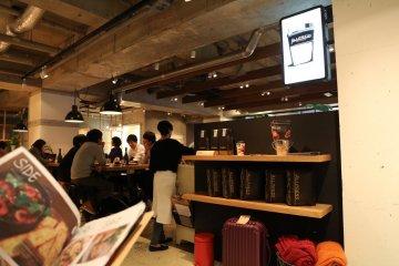<p>Inside the cafe</p>