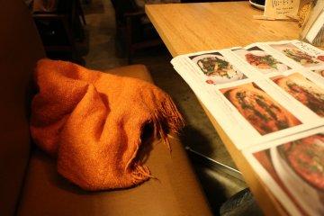 <p>Fluffy orange blanket</p>
