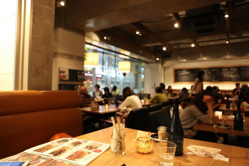 <p>Inside the cafe - a relaxing atmosphere</p>