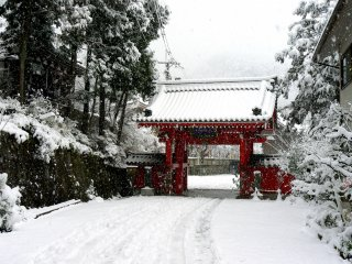 The red gate of Honkokuji