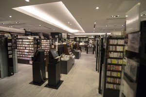 2F: The CD and DVD Section. No, you are not in Tower Records.