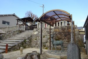 擽谷七野神社酸性雨から鹿を守る