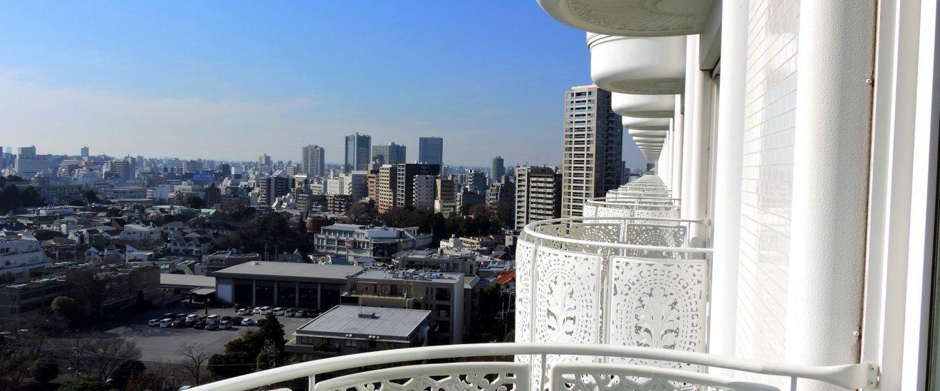 15階客室ベランダから眺める東京の絶景。運が良ければ富士山も見える!
