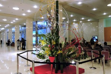 <p>This is the New Year decoration which replaced MY comfortable sofas in the lobby!</p>