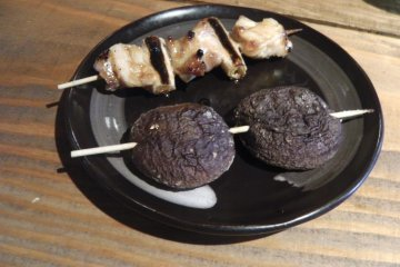 The yakitori is delicious!