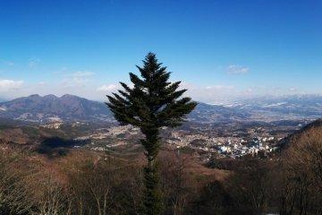 <p>The view from a viewing platform of Ikaho and Shibukawa</p>