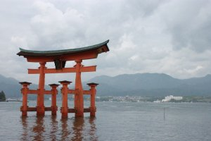 Maybe this picture does not do justice to the majestic beauty of this Miyajima landmark.