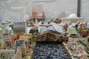 A model of Tajimi done in ceramics