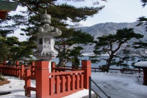 Khung cảnh hồ Chuzen-ji từ đền Chuzen-ji