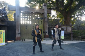 <p>Two samurai guards whom greet visitors that come in the early morning.</p>