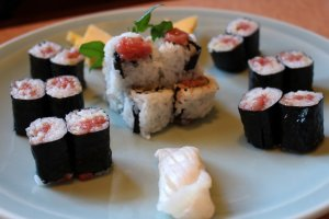 Selection of maki sushi