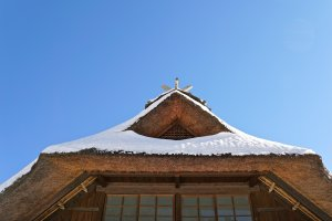 """Kabuto-zukuri,"" or roofing designed like a samurai warrior helmet"