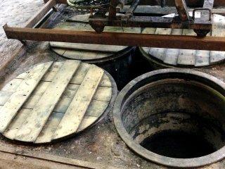 Working Indigo dying vats at the Little Indigo Museum.