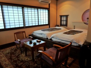 This 'Wa-modern' room was spacious and very comfortable.