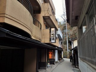 Yamanoyu has a perfect location in the center of town.