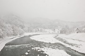 <p>Listen to the murmur of a stream in the snow</p>
